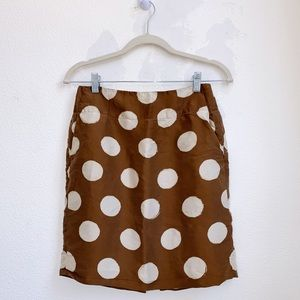 Banana Republic | Dot Print Pencil Skirt